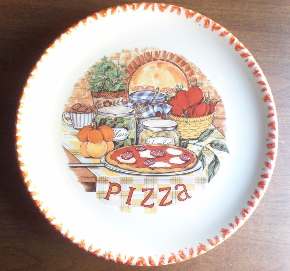 6 PIZZA PLATES PIZZA SERVING PLATTER 12  MADE IN ITALY #CMS & 6 pizza plates pizza serving platter 12