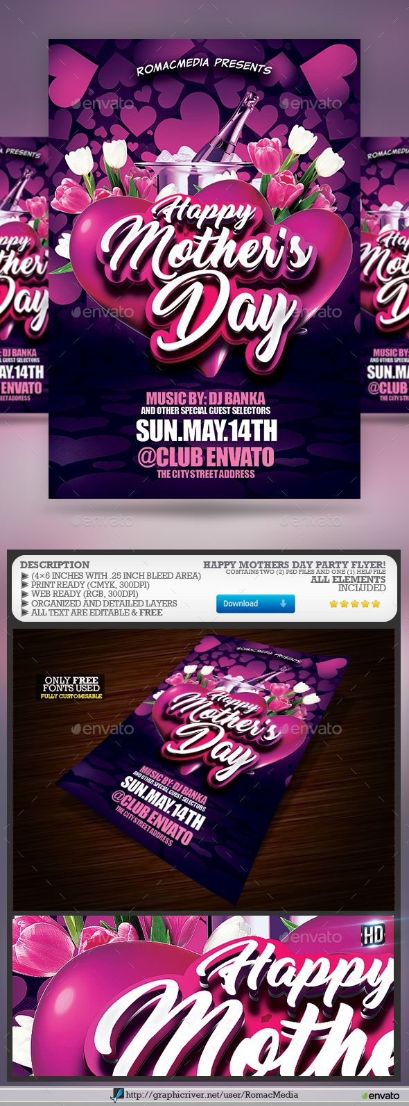 Mothers Day Flyer  Flyer Template Template And Party Flyer