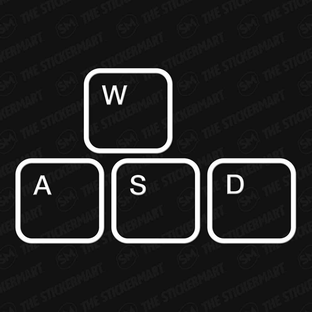 Wasd Gaming Keyboard Keys Outline Vinyl Decal 10 Inches In 2021 Vinyl Decals Gamer Tattoos Keyboard Keys