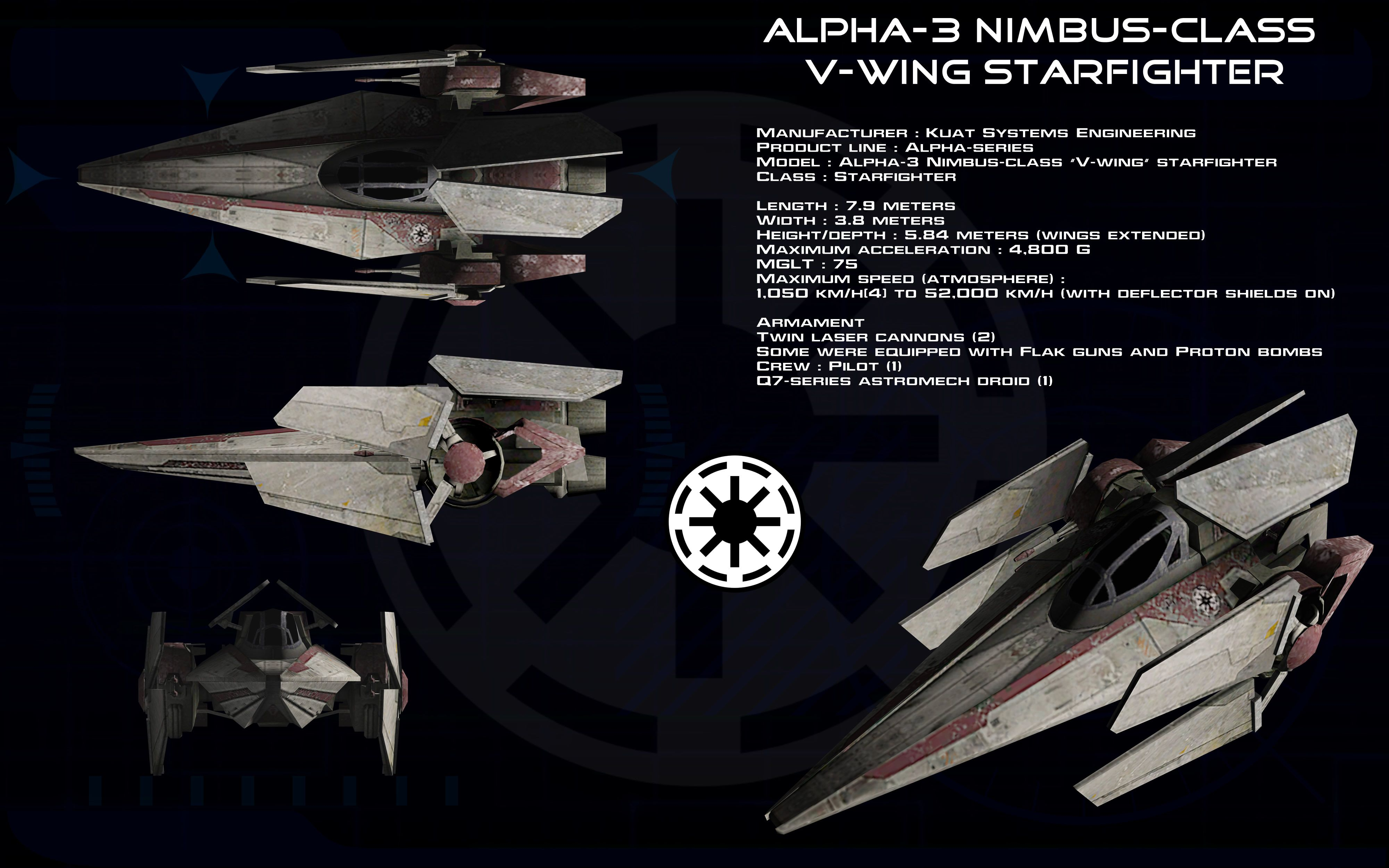 Alpha 3 Nimbus Class V Wing Starfighter Ortho 1 By