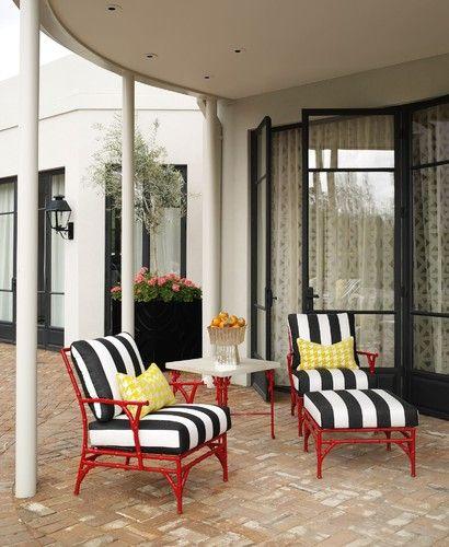 Hollywood Regency Patio Furniture Jamie Herzlinger Outdoor