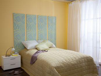 Ideas para decorar el cabecero de la cama con papel pintado dormitorios ideas cabeceras - Cabecero cama pintado ...