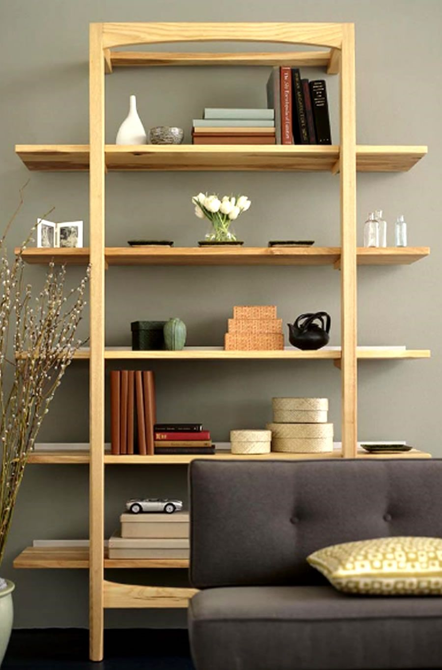 Office shelves modern luxury office shelves storage for Wooden furniture design