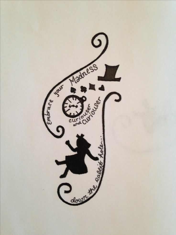 Alice And Wonderland Tattoos By Kayla Howard On Tattoos
