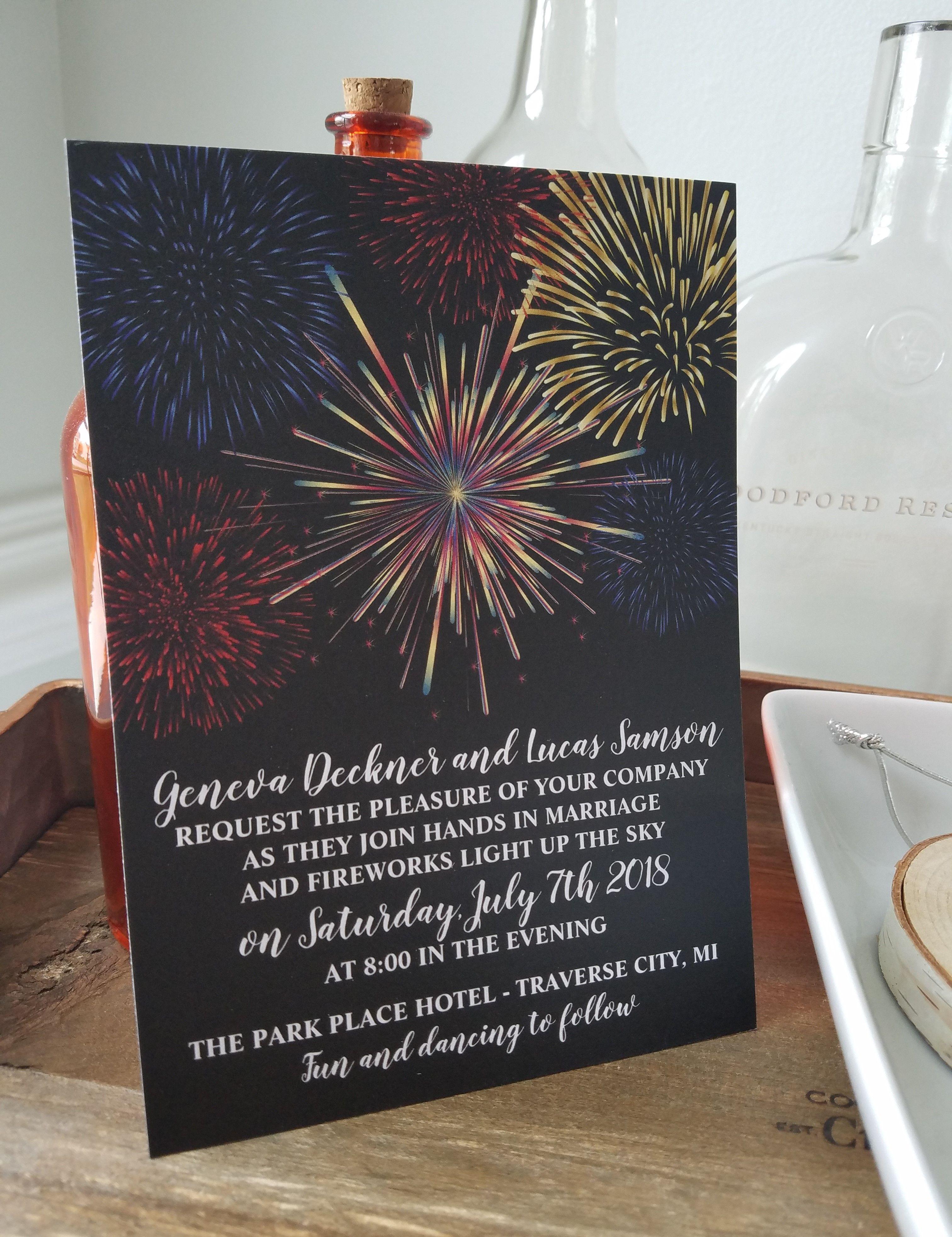Fireworks Sky Wedding Invitation - #wedding #weddinginspiration ...