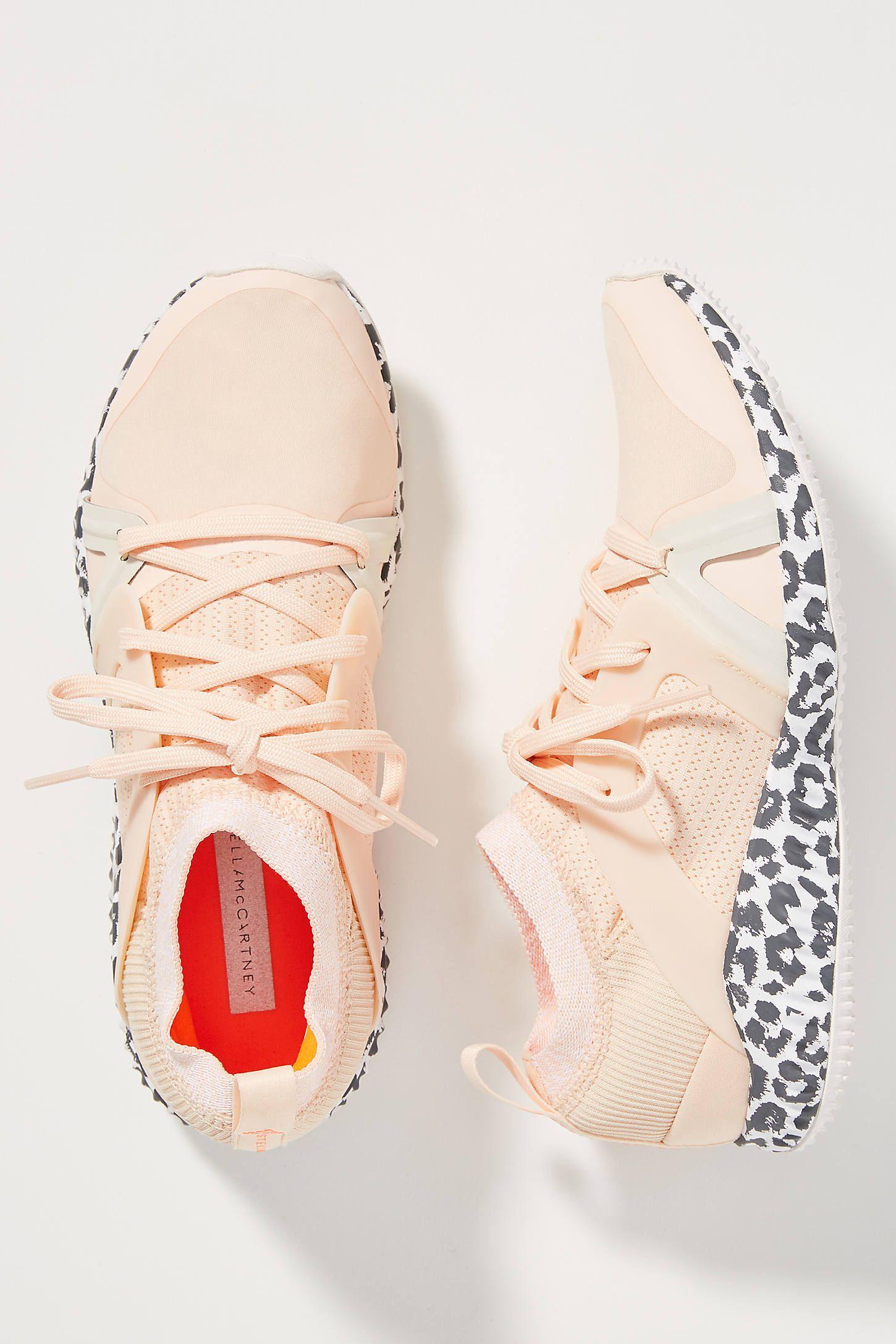 Adidas by Stella McCartney Peach Leopard Sneakers