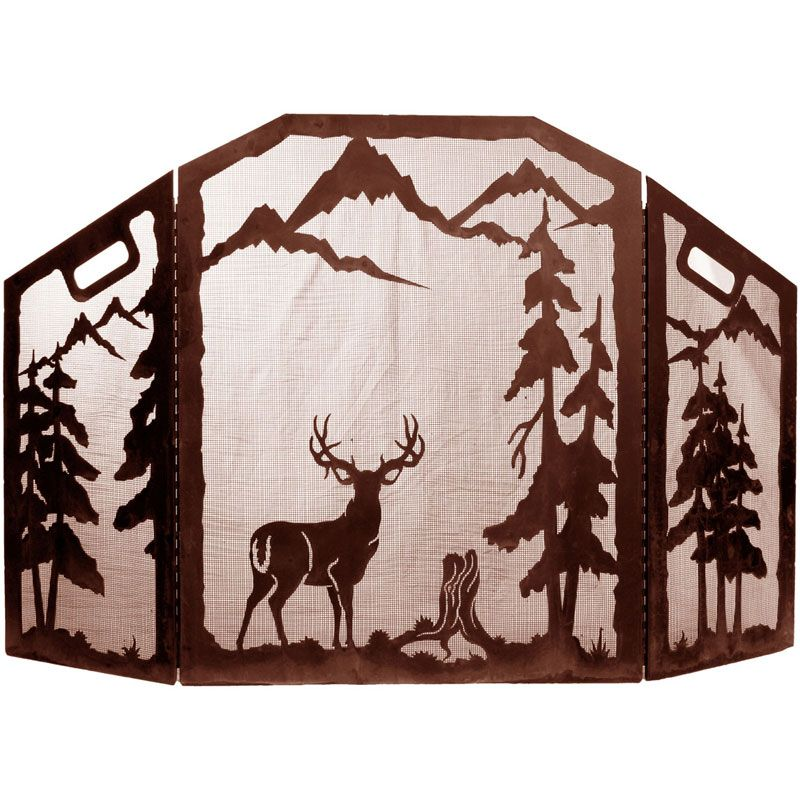 Western Wildlife Design Fireplace Screens Stained Glass