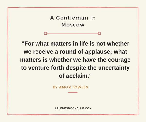 Image result for gentleman in moscow quotes