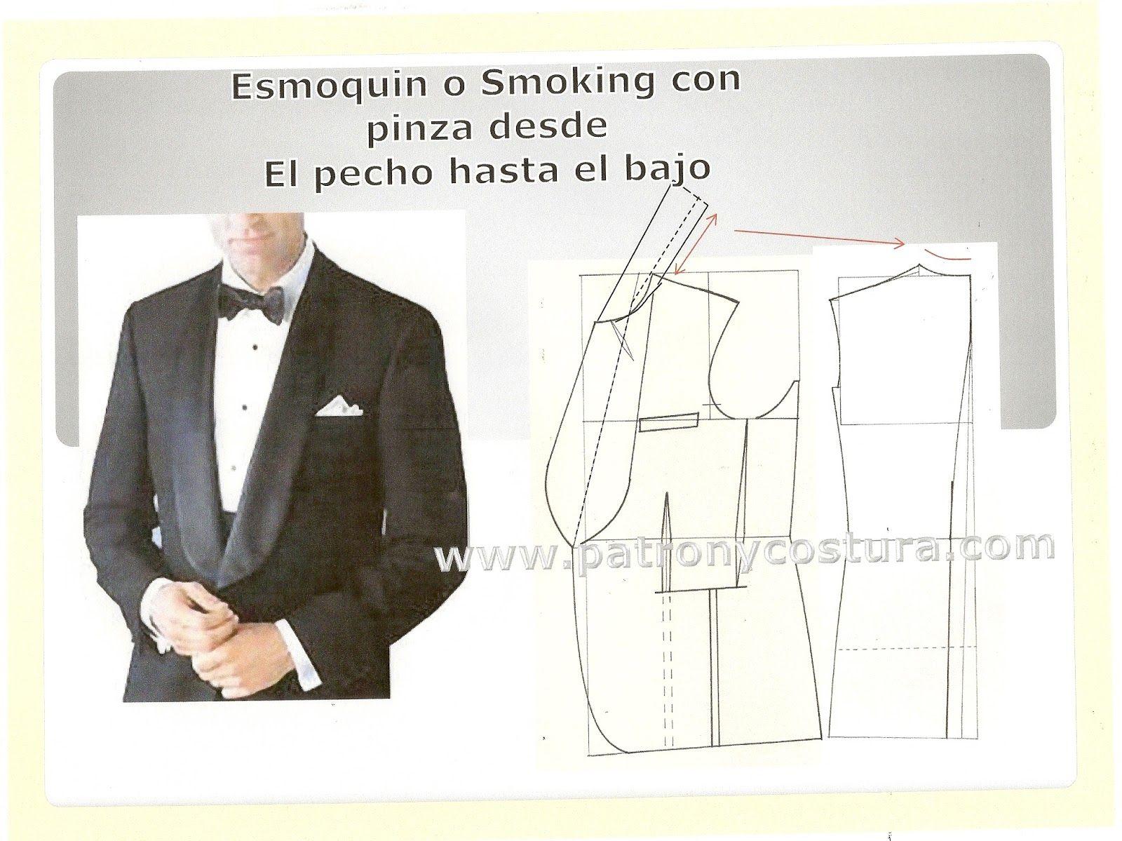 Patrón y costura : el cuello esmoquin en chaqueta de caballero. Tema ...