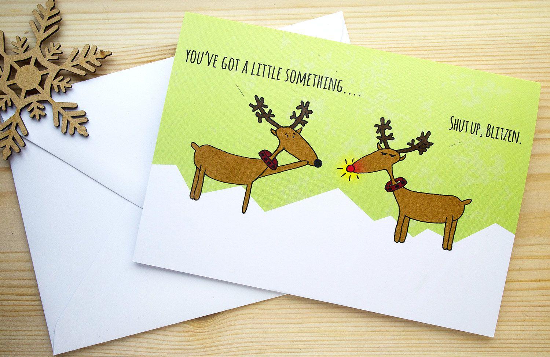 Funny christmas card illustrated christmas card funny holiday card funny christmas card illustrated christmas card funny holiday card christmas greeting card kristyandbryce Choice Image