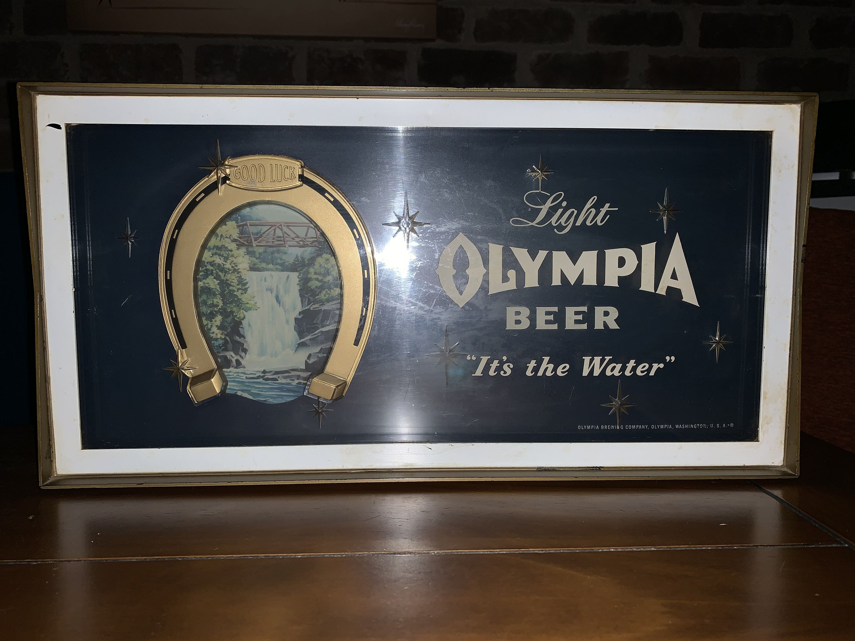 Beer sign olympia Olympia Brewing