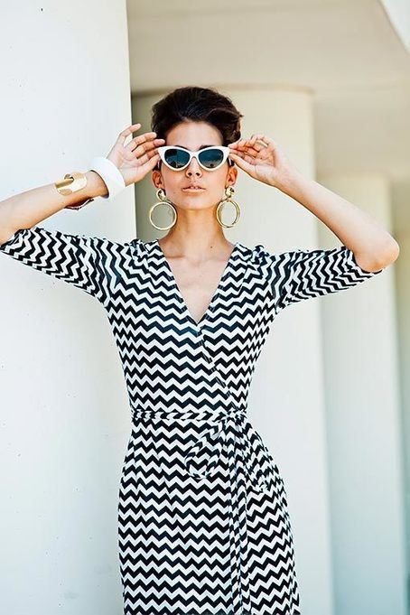 Zig Zag Stardust Maxi Dress from It's A Mod World Collection by Shabby Apple