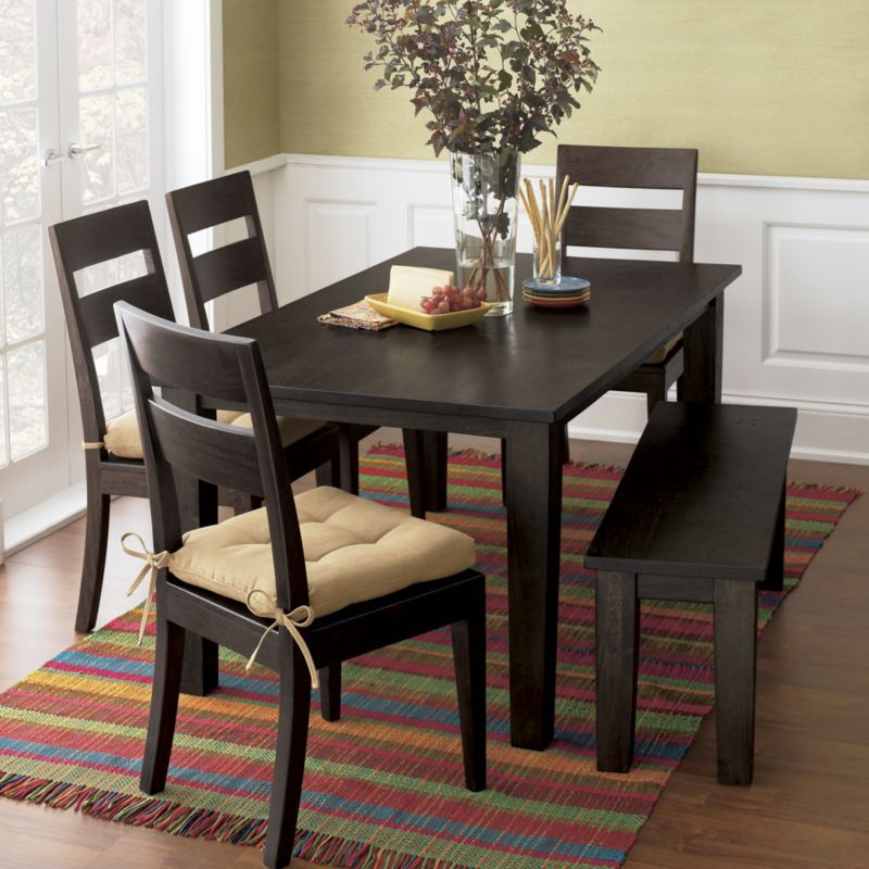 Crate And Barrel Basque Java 65 Dining Table I Love The Color