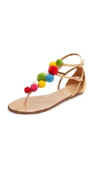 A few things instantlycame to mind when I first laid eyes onAquazzura's pom pom sandals. 1. Why didn't I think of this?! 2. Insert salsa dancing emoji here. 3. Must DIY, stat. Boom. So there it was, yet another project filed away in the long summer DIY queue. And it wasn't until I stumbled upon