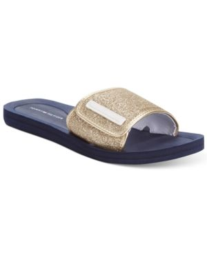 bcb23a60abd76 Tommy Hilfiger Mysha Slip-On Flat Sandals - Gold Glitter 5M ...