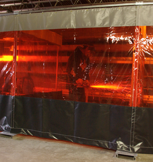 our welding curtains provide protection from uv and near uv radiation plus debris