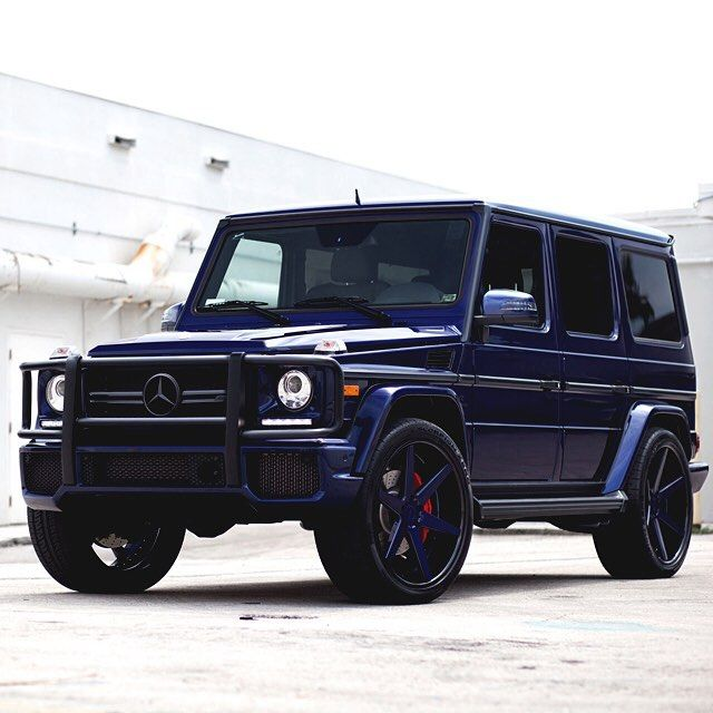 Mercedes-Benz G63 AMG Deep Blue On ADV1 Wheels. Boss Wagon