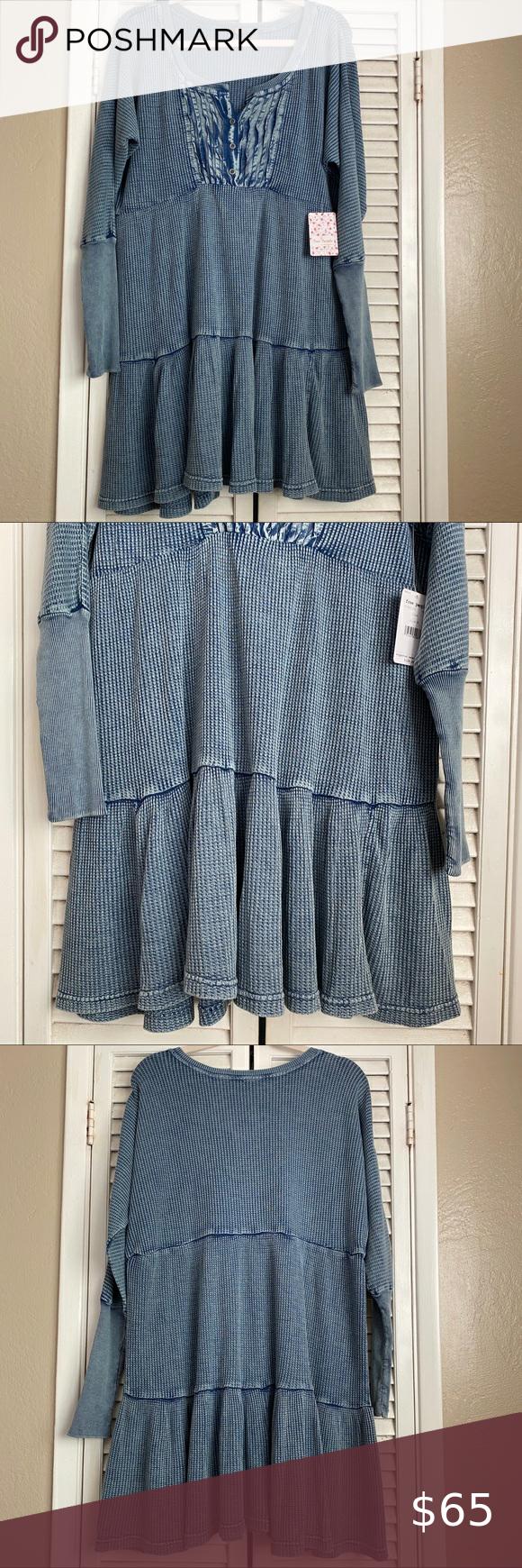 Nwt Free People Jolene Waffle Knit Dress Knit Dress Waffle Knit Dresses [ 1740 x 580 Pixel ]