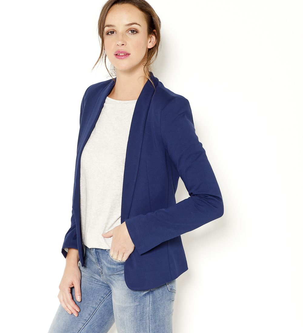Veste Tendance Femme se rapportant à veste blazer milano bleu camaïeu 2017 | working girl collection