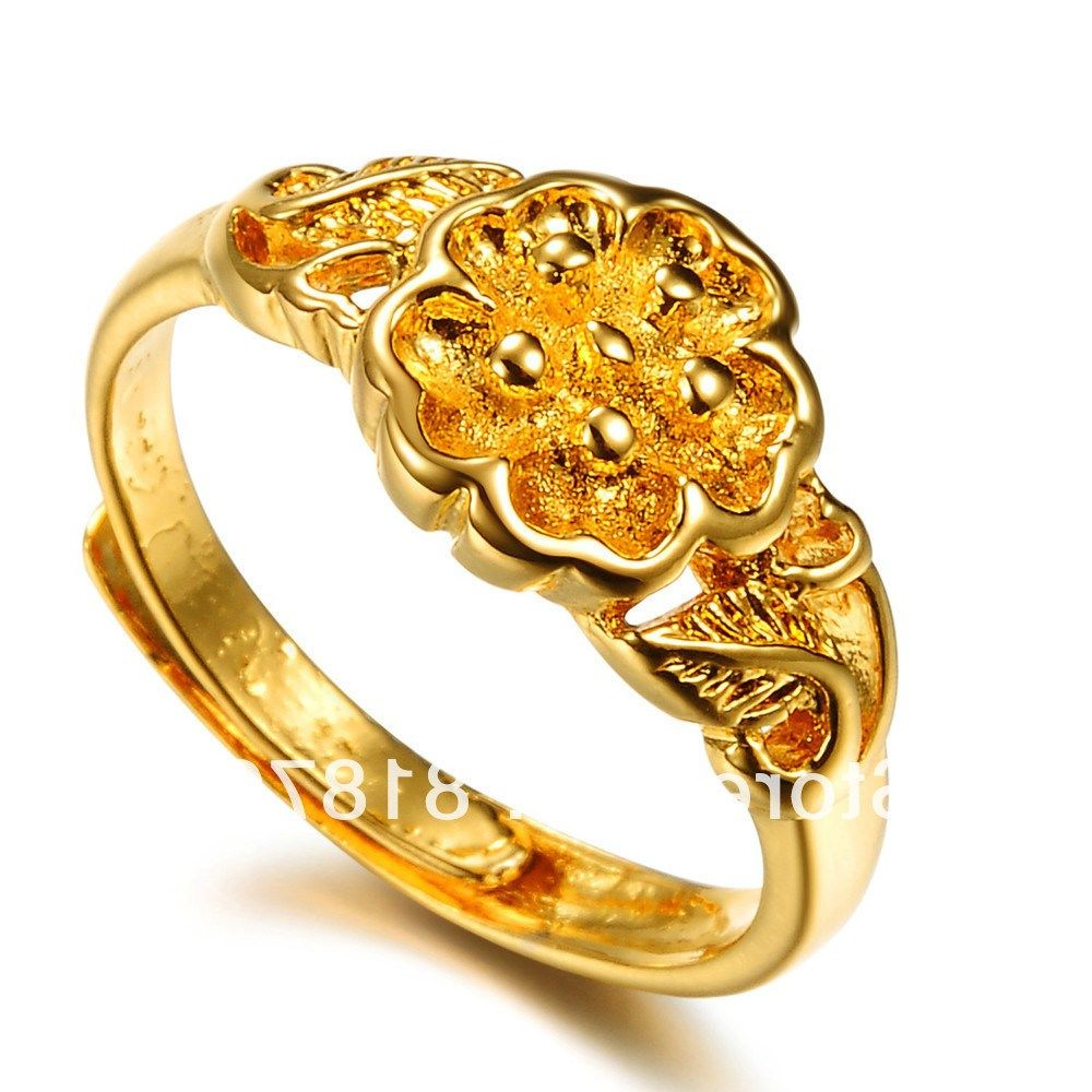 Gold Ring Design For Female Without Stone Images — Fashion