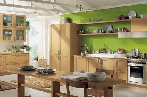 cucina parete verde - Cerca con Google | Home | Pinterest