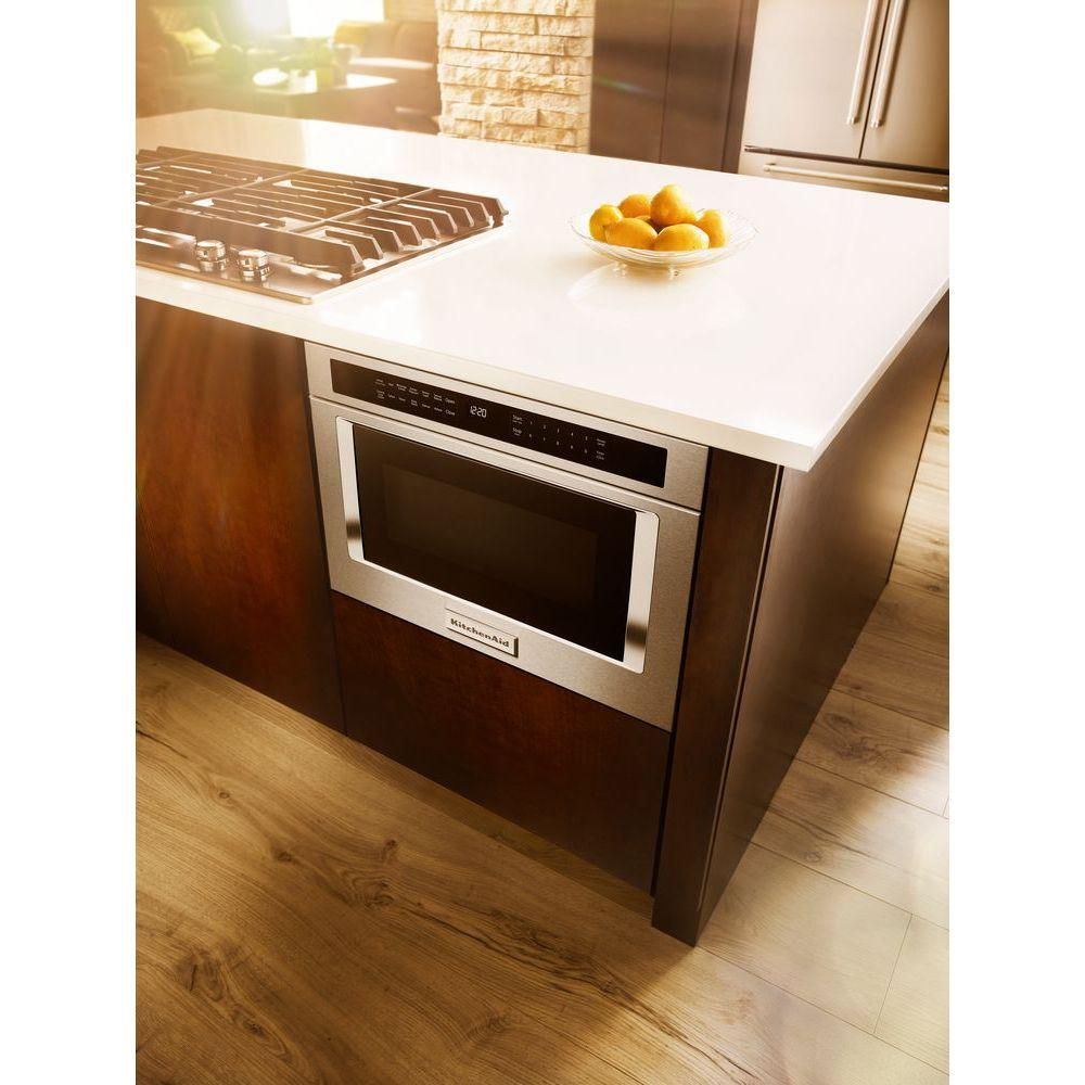 Kitchenaid 12 cu ft undercounter microwave drawer in