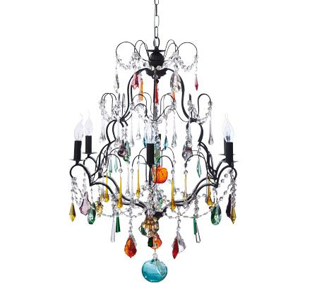 Kronleuchter Farbig aus der domicil home collection der farbenfrohe leuchter gloria aus