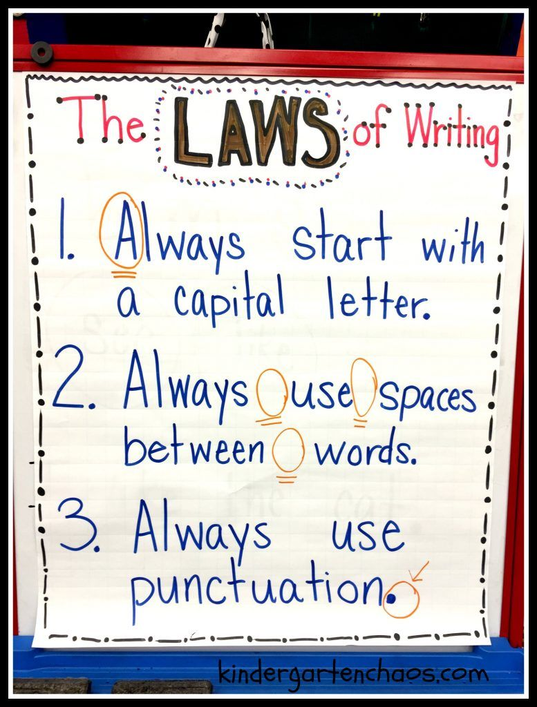 Writing Rules For Kindergarten