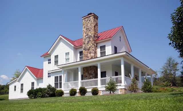 classic virginia farmhouse w lovely interior 10 hq pictures metal building homes - Classic Farmhouse Plans