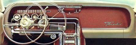 1964 1965 And 1966 Thunderbird Door Trim And Instrument Panels Thunderbird Sedan White Paneling
