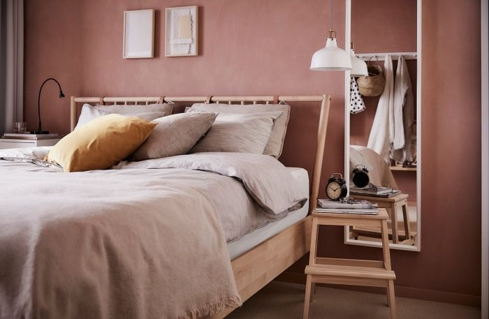 tendance deco 2018 2019, modèle de lit en bois avec tête de lit ...