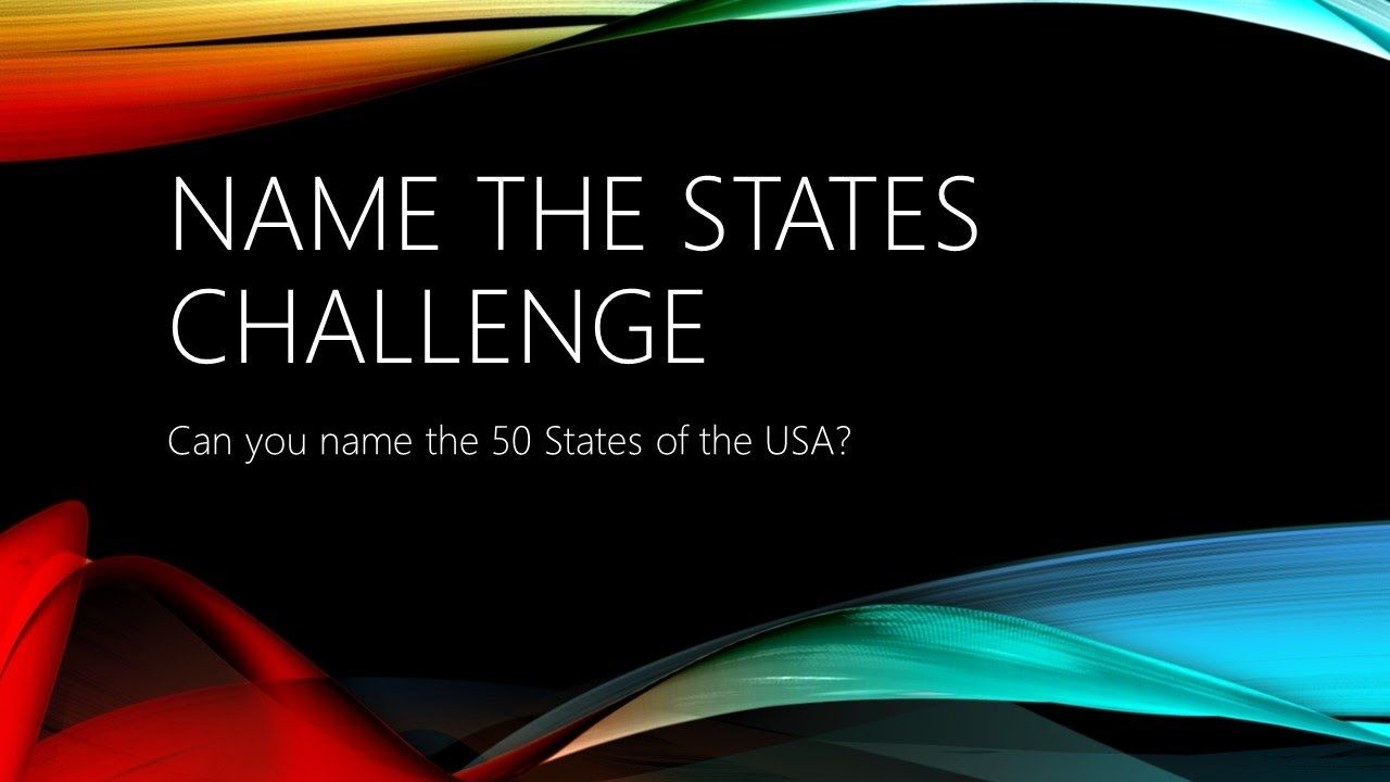 Name the States Challenge