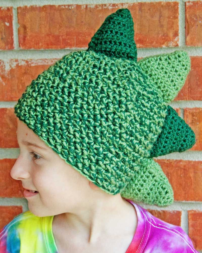 Crochet Dinosaur Hat Pattern | Crochet dinosaur hat, Crochet ...
