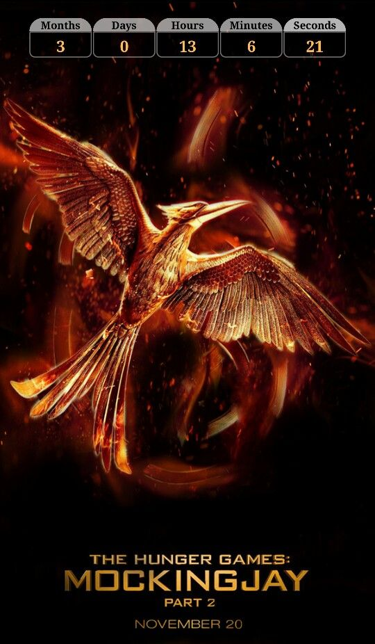 <<Mockingjay part 2 countdown>> download the application. With this application can lead the count of the time that is missing for the premiere Mockingjay part 2.