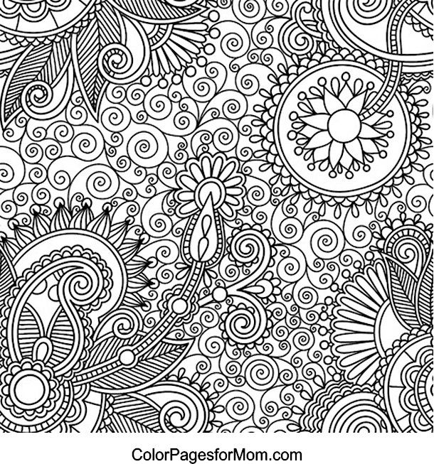 Paisley Coloring Page Adults