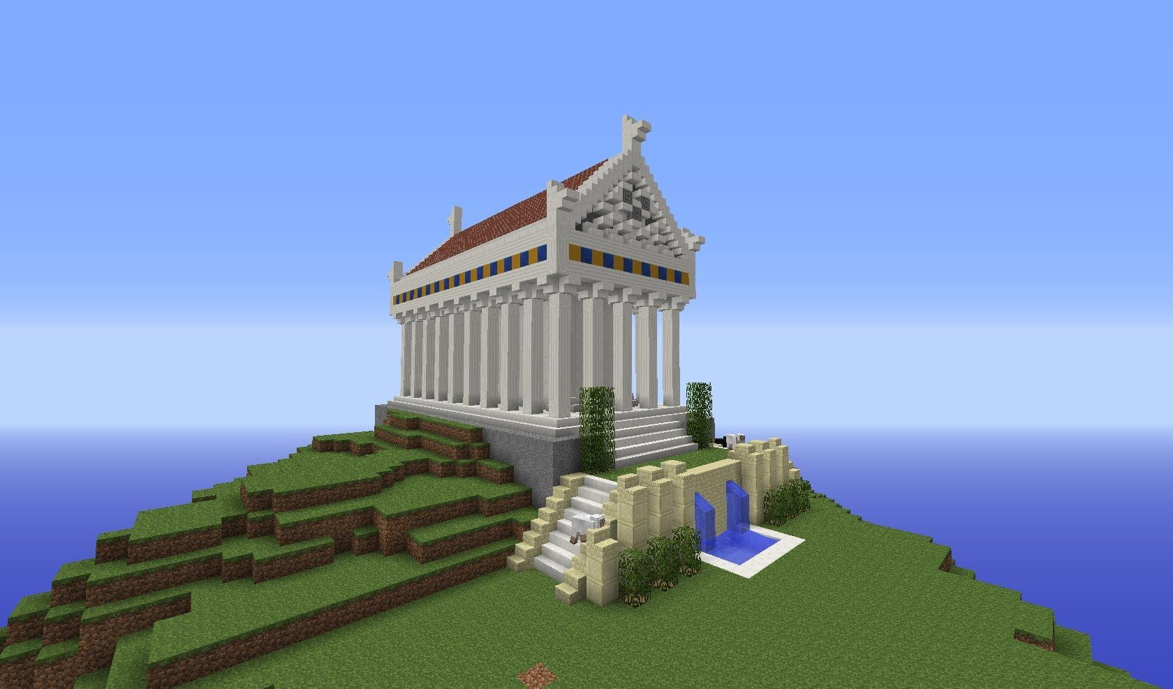 Minecraft Greek City Temple Building With Optical Creeper Episode
