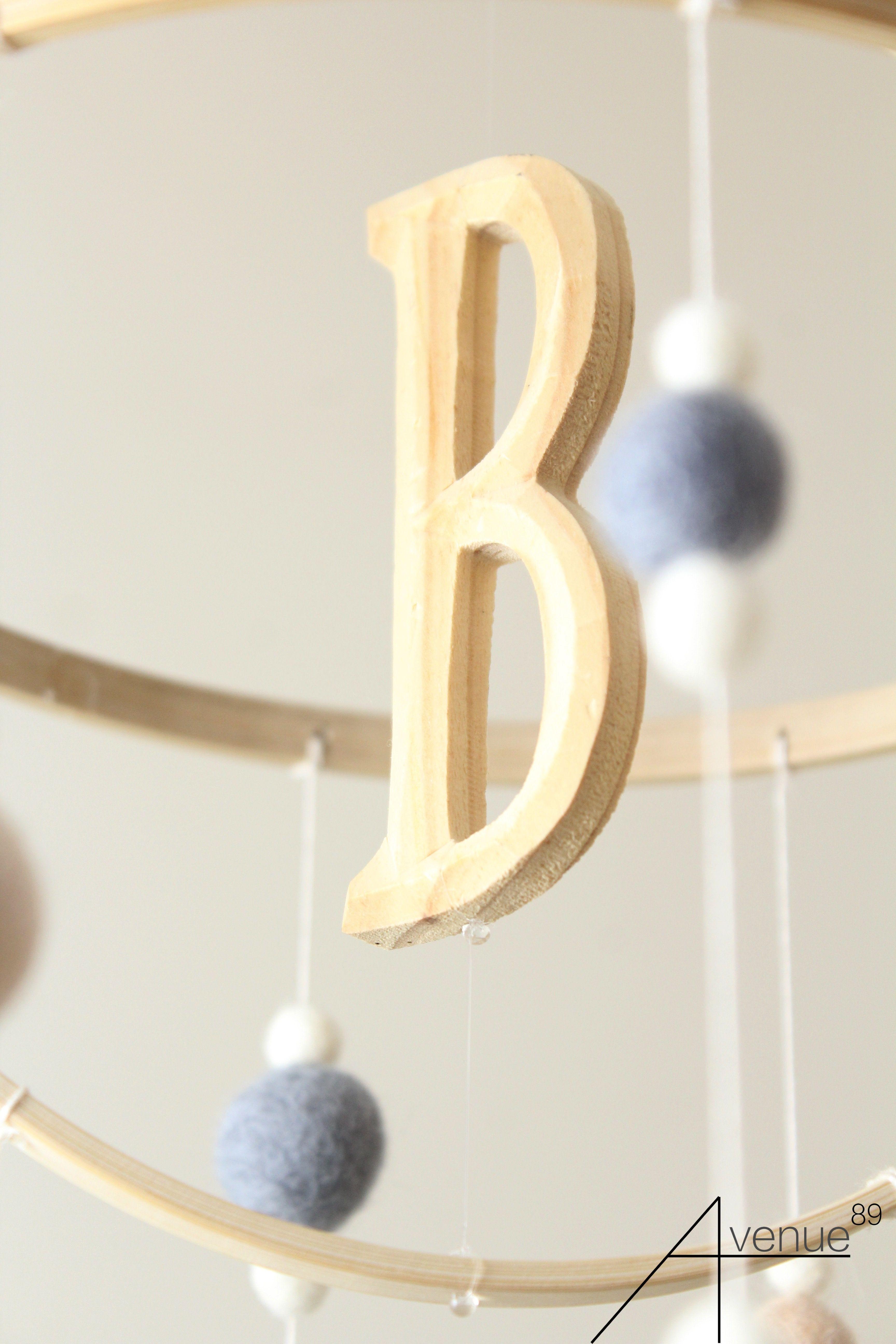 Baby Mobile Personalized Nursery Crib Room Decor Neutral Custom Felt Ball Gift