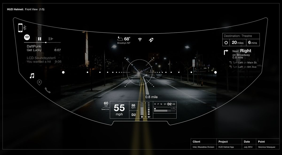 Helmet ui augmented reality interface on behance mixed for Indoor navigation design