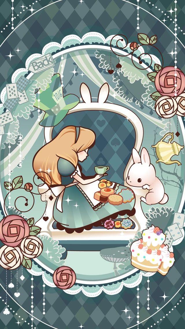 foto de Tea time with White Rabbit Alice in Wonderland Alice