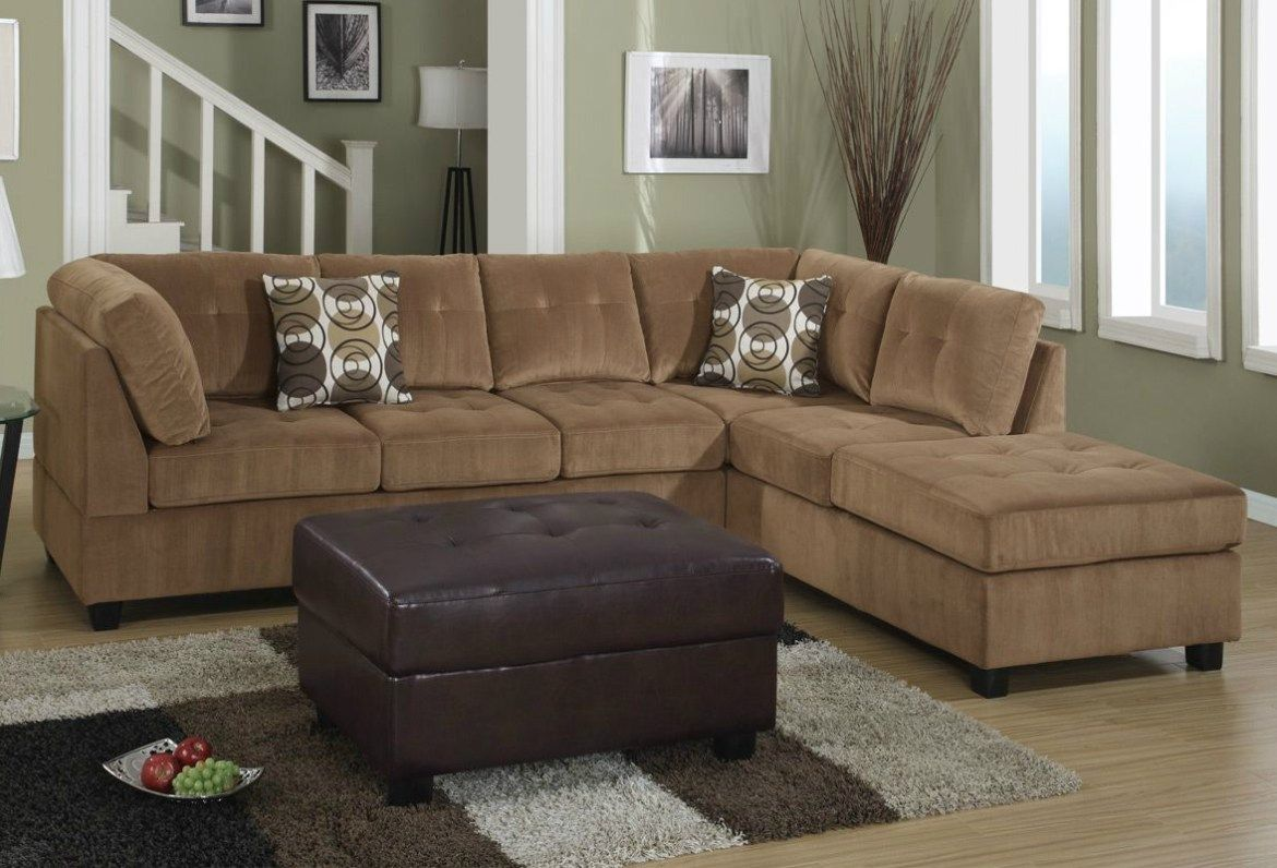 Sofa Buchannan Microfiber Brown Awesome Suede Sectional Sofas Barkley Large L Shaped With Right Side Loveseat By Floor