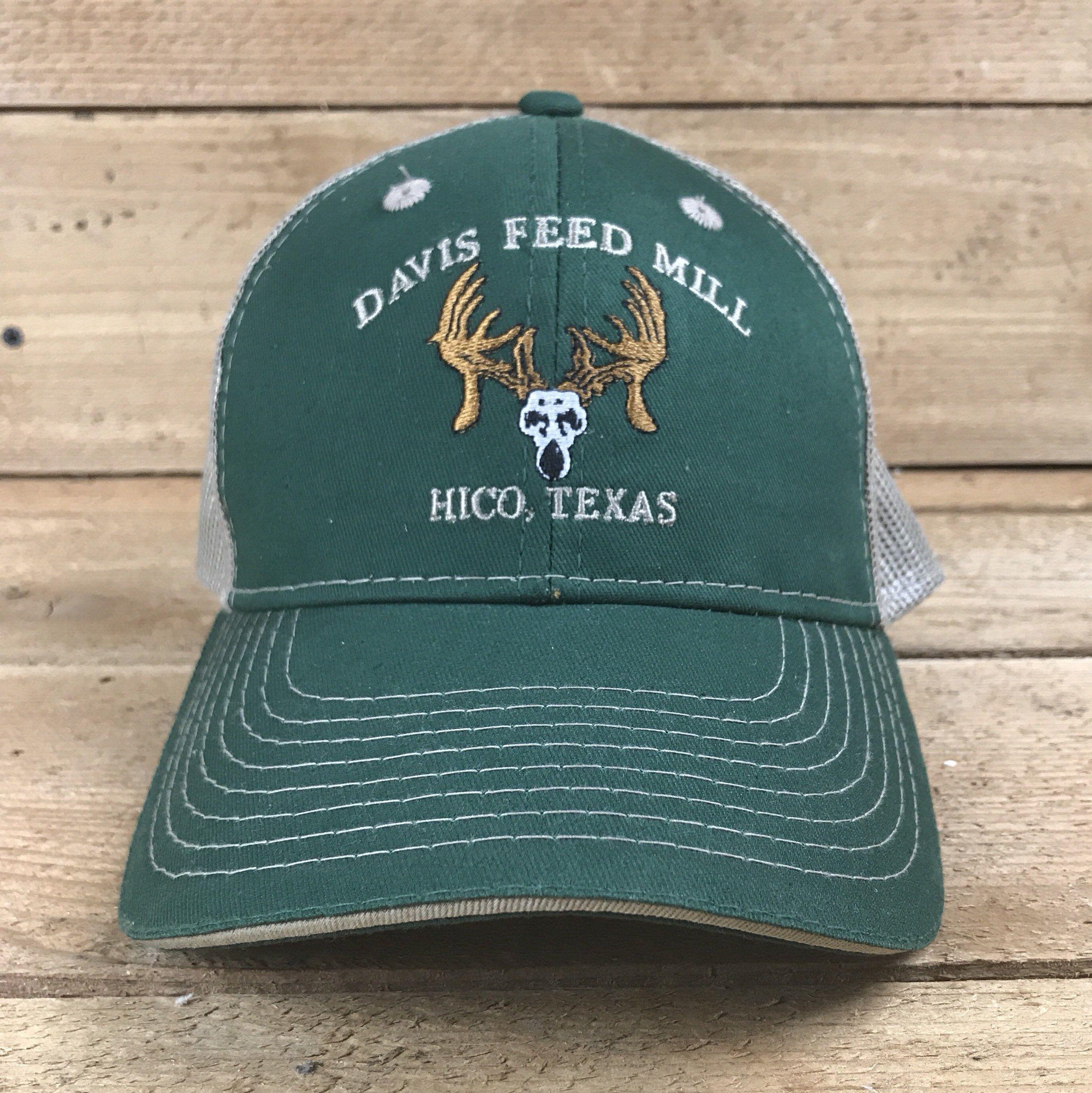 Hico Texas Tx Davis Feed Mill Green Hat Etsy Green Hats Hico Hats