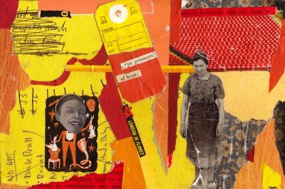 """prisoners of hope"" paper collage by gregory a. milinovich, from the unlikely orange: collage"