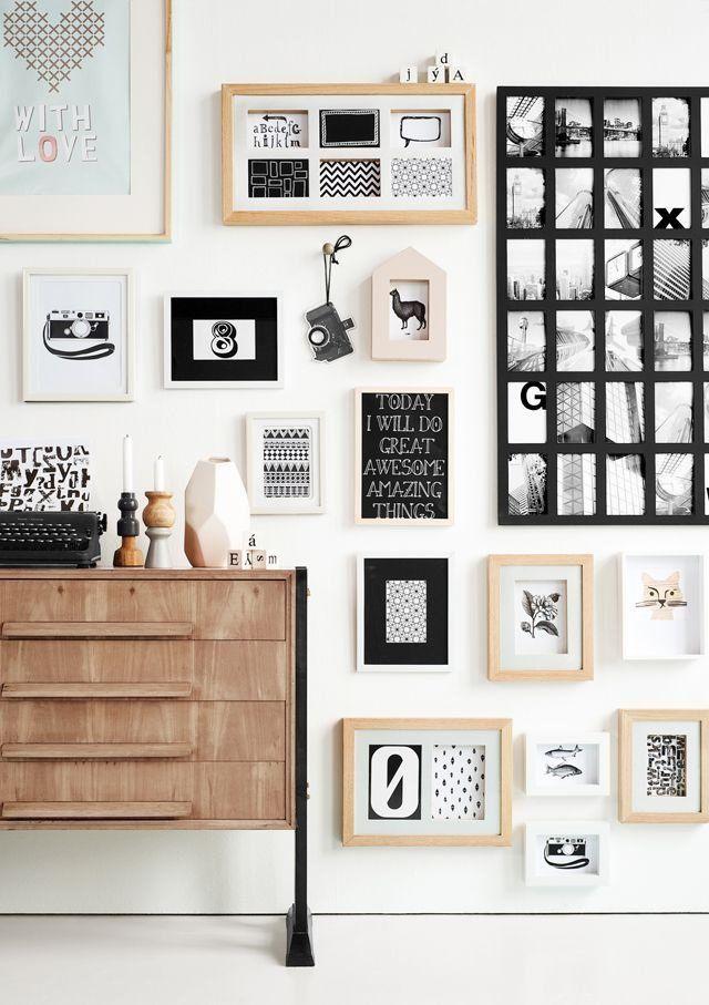 collage de fotografías para la decoración de paredes en el hogar ...