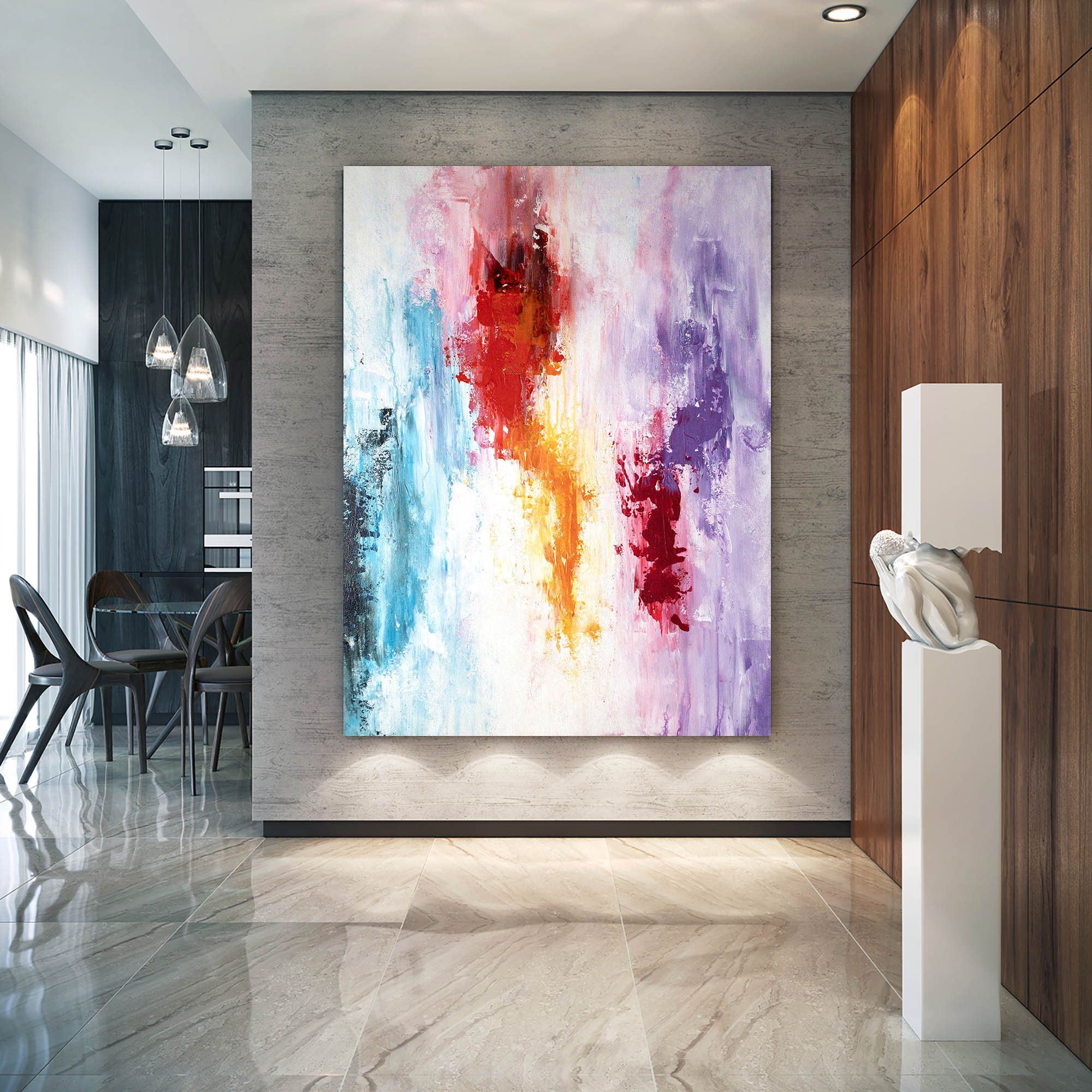 Large Modern Wall Art Paintinglarge Abstract Wall Etsy Large Abstract Wall Art Abstract Wall Art Painting Large Modern Wall Art