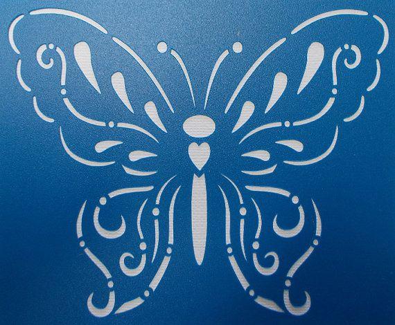 Butterfly 03 stencil le d lai je suis heureux et d lai - Echantillons gratuits a recevoir sans frais de port ...