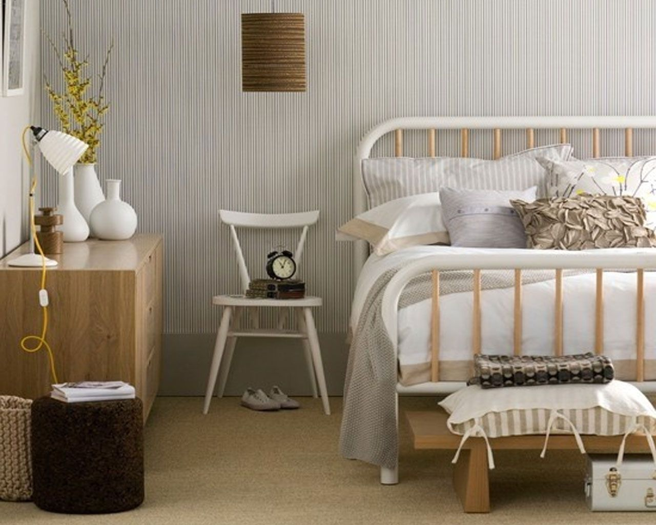 scandinavian bedroom furniture. nice scandinavian bedroom design with white frame bed and wooden storage idea furniture s