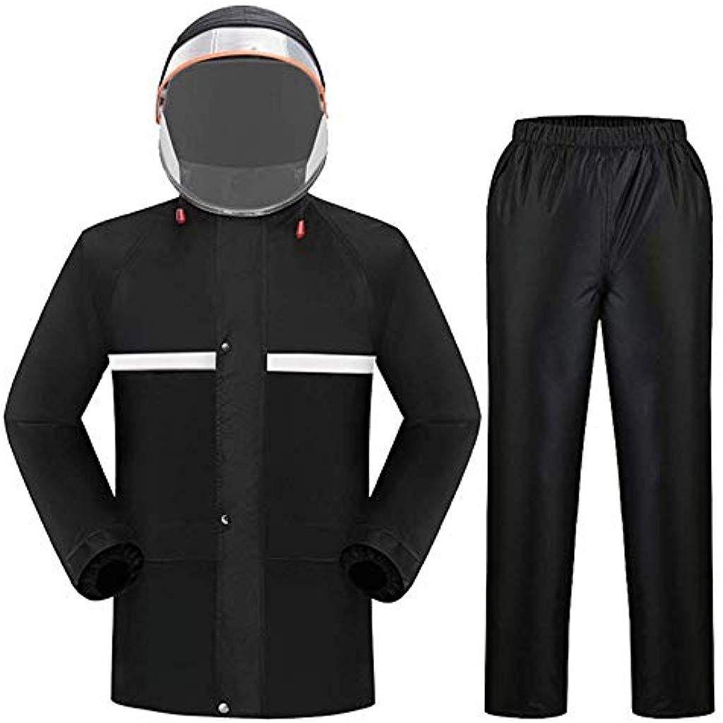 c97891b78f5c52 CZZ Regenmantel Herren Regenmantel Wasserdichte Abdeckung Gitter Futter  Außenarbeit Motorrad Golf Angeln Jacke Und Hose Set