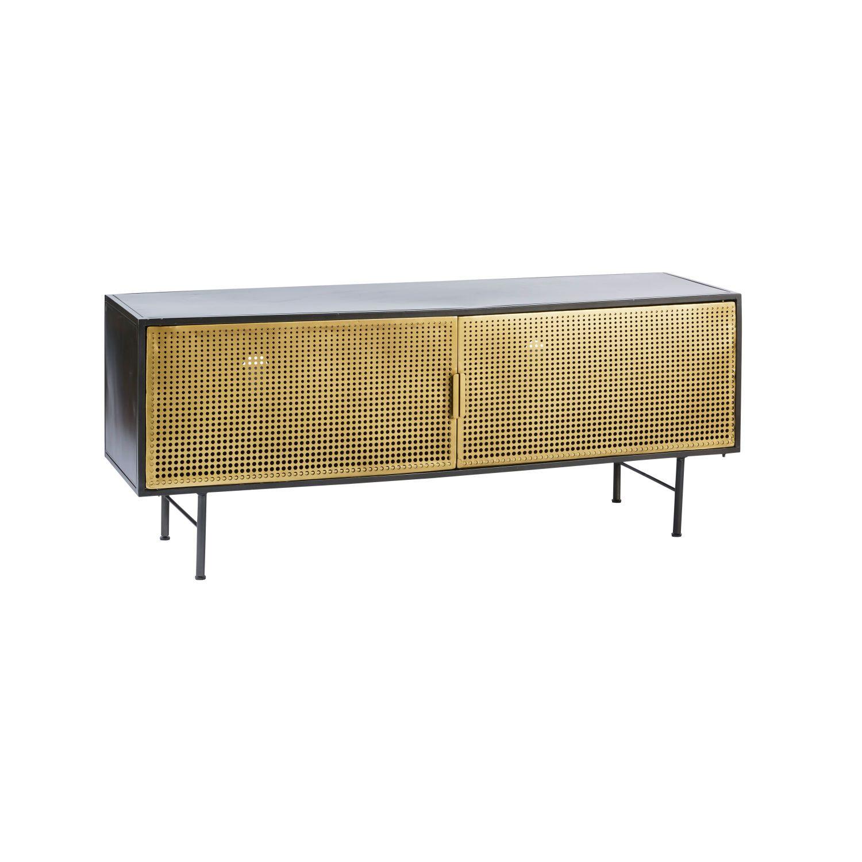 Gold And Black Metal 2 Door Tv Cabinet Mit Bildern Tv Mobel