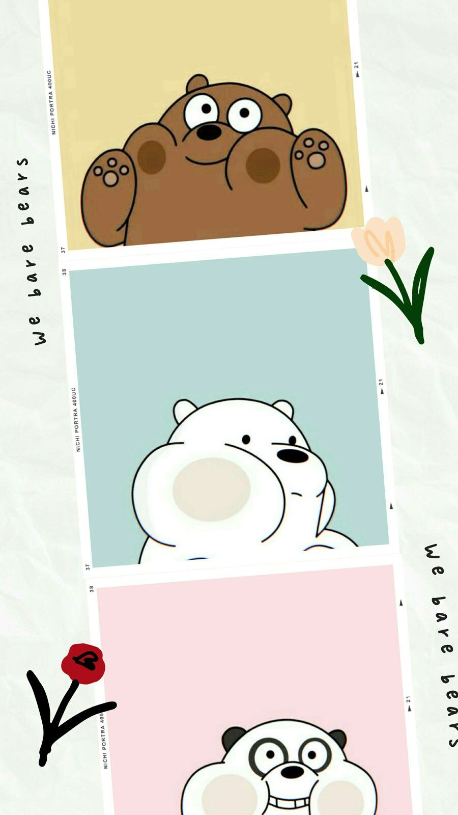 We Bare Bears Kartu Lucu Boneka Hewan Seni Buku