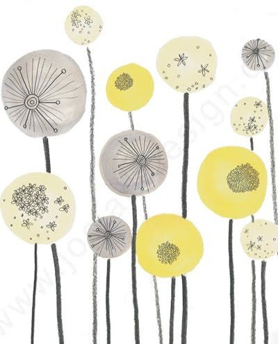 Pattern Jo Clark yellow grey and white, whats not to love!